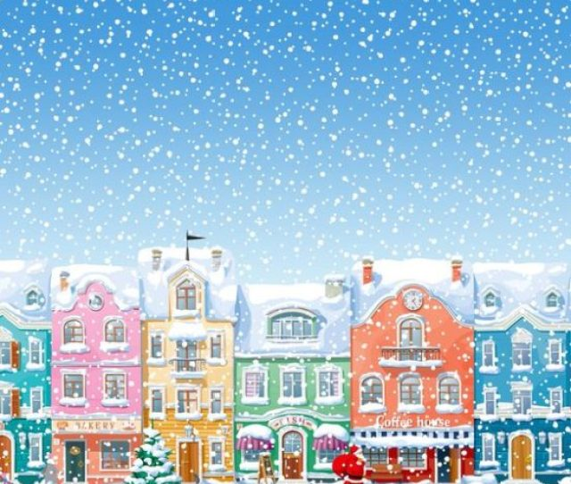 A Classic Charming Christmas Scene Complete With Santa Claus Is Depicted Here Bright Yet Cozy Its A Lovely Wallpaper Will Look Nice On Your Phone For The