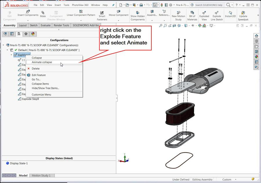 Shop technology and 3-D CAD: Using animation tools in