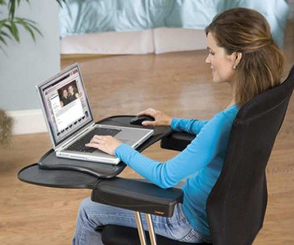 Mobo Computer Station  Ergonomic Chair Mount Keyboard