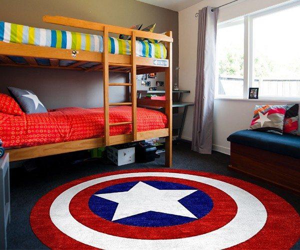 Captain America Rug  Gadget Flow