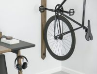 Black Walnut Vertical Bike Rack  Gadget Flow