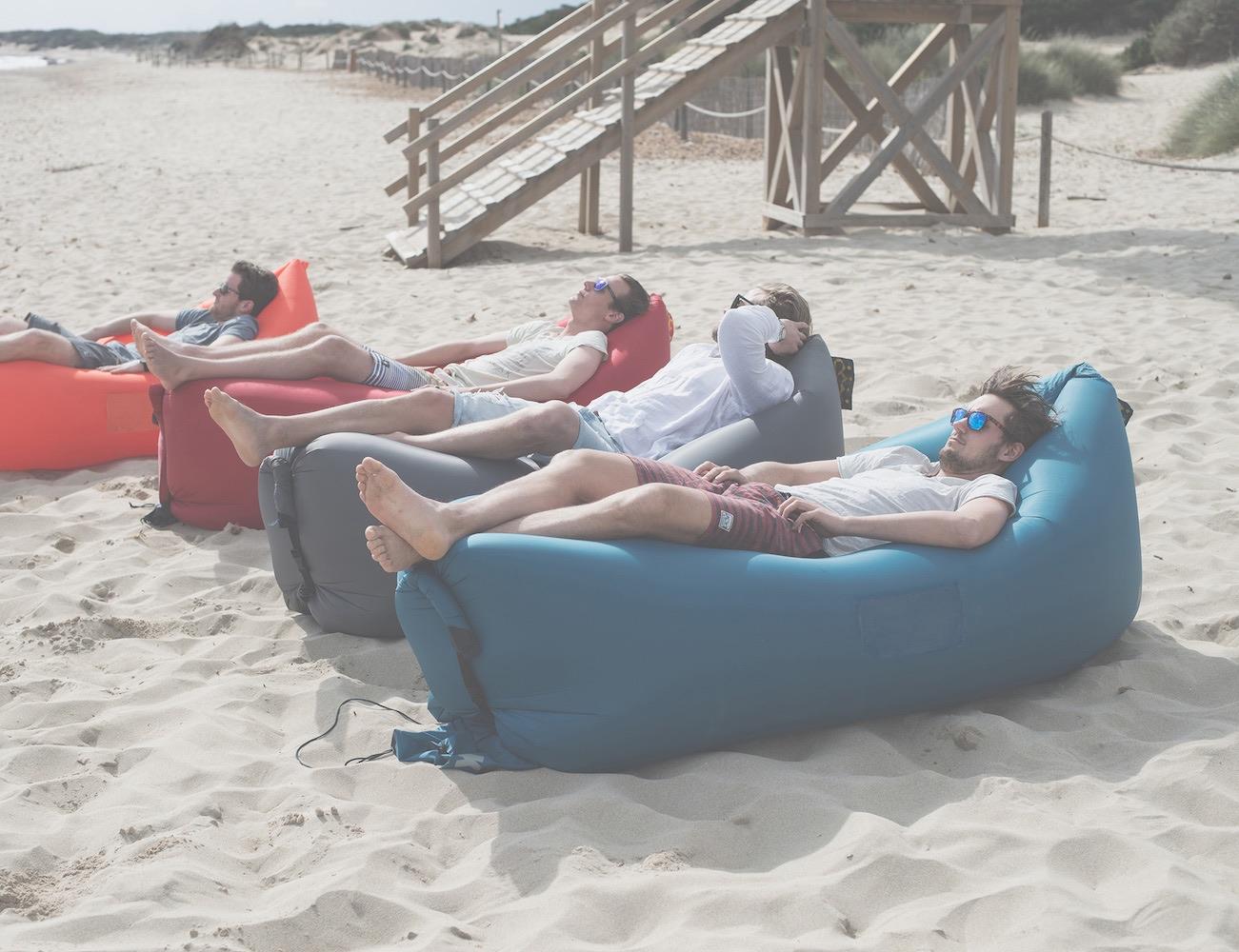 air travel beach chairs chair cover rental kansas city kaisr inflatable lounge  gadget flow