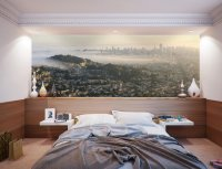 San Francisco Panoramic Skyline Wall Mural by Eazywallz ...