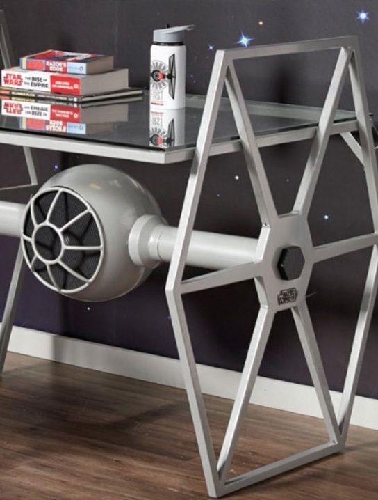 Star Wars Tie Fighter Gray Desk  Gadget Flow