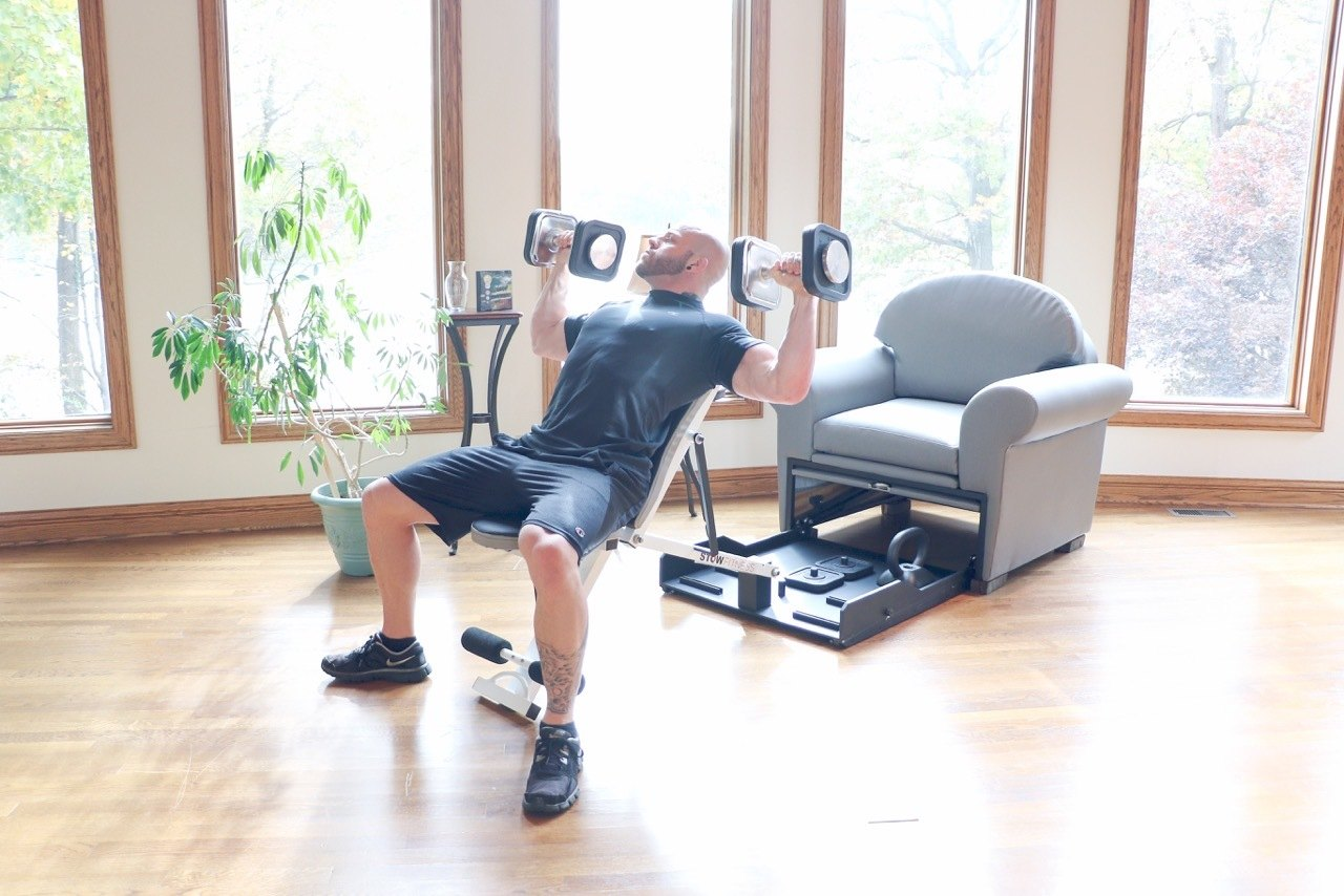 chair gym reviews simply cool rigby accent and ottoman stow fitness exercise equipment in furniture  gadget flow
