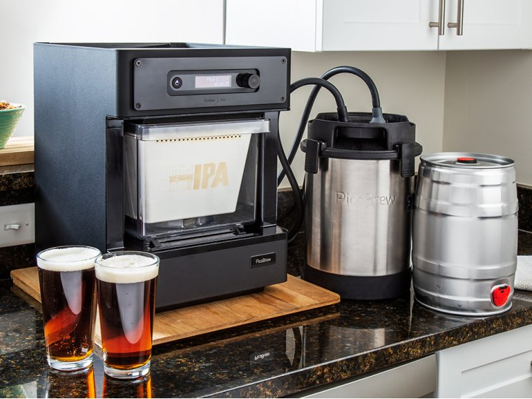 A craft beer brewing appliance from Pico sits on a countertop