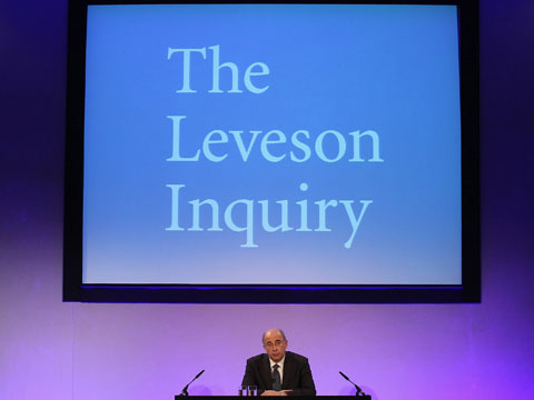 Lord Justice Leveson - the Leveson Inquiry