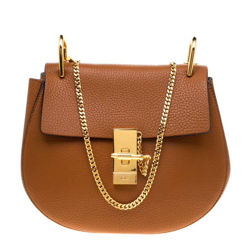 Chloe Caramel Leather Medium Drew Shoulder Bag Chloe   TLC