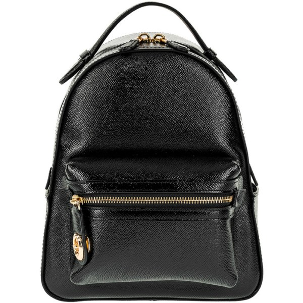 Coach Black Patent Leather Campus 23 Backpack 161864