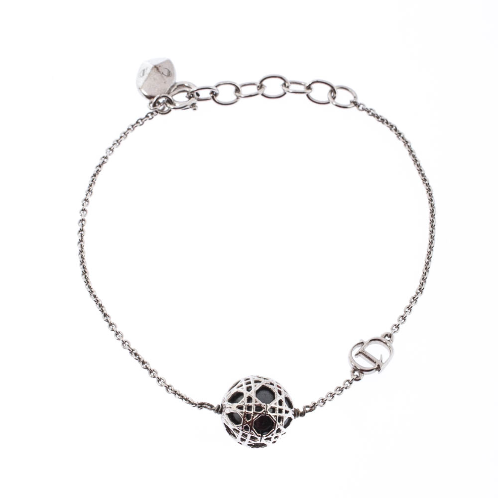 Buy Dior Secret Cannage Faux Pearl Silver Tone Bracelet