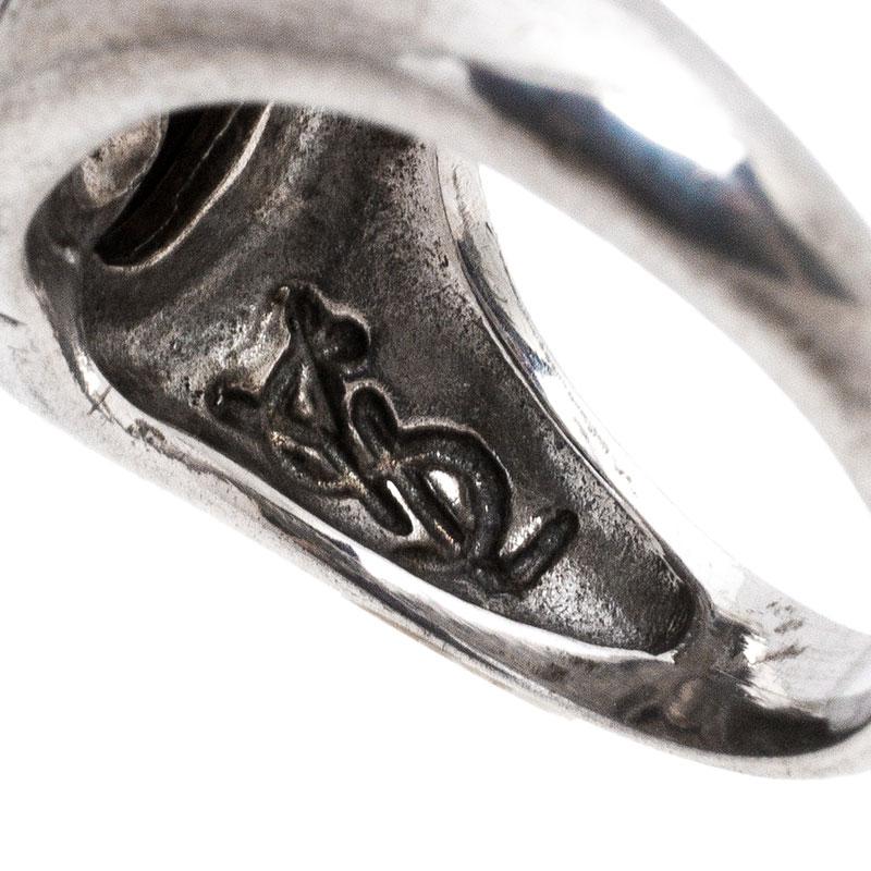 Saint Laurent Paris Sterling Silver Heart Ring Size 50 Saint Laurent Paris | TLC