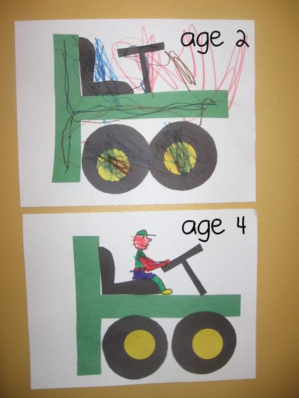 Letter T Tractor Craft Preschool