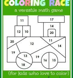 Math game for kids: Coloring Race combines math and coloring - The Measured  Mom [ 2112 x 1731 Pixel ]