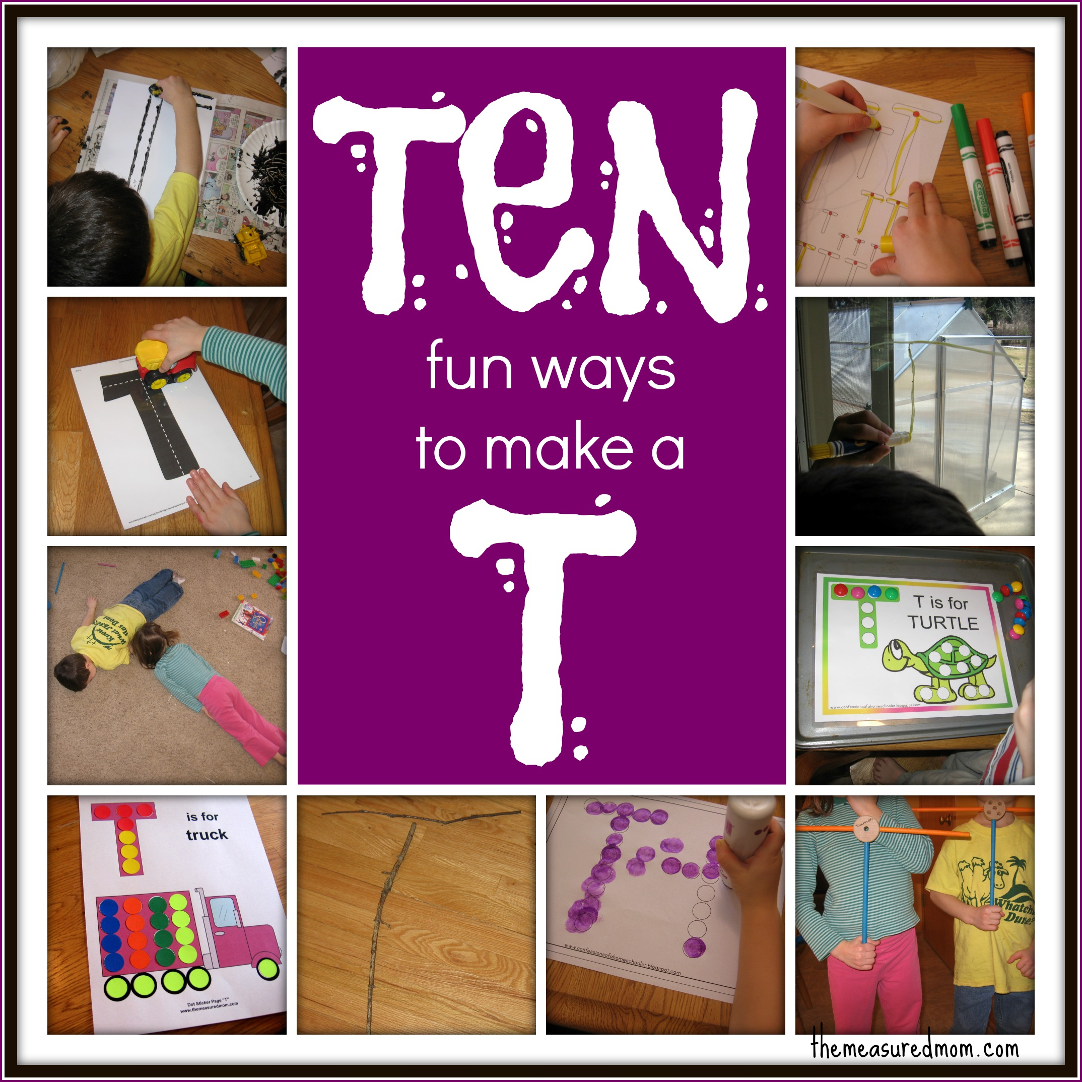 10 Ways To Write The Alphabet Letter T