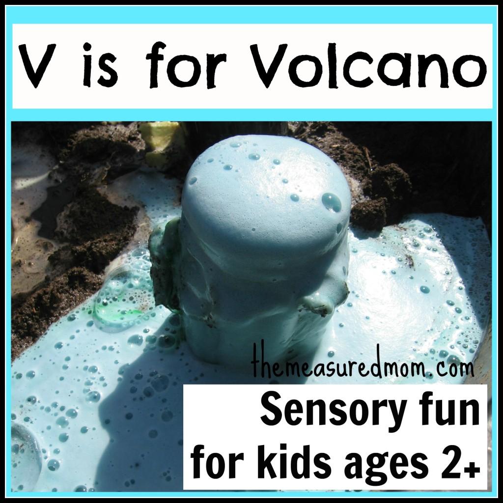 Make Your Own Volcano Sensory Fun For The Letter V