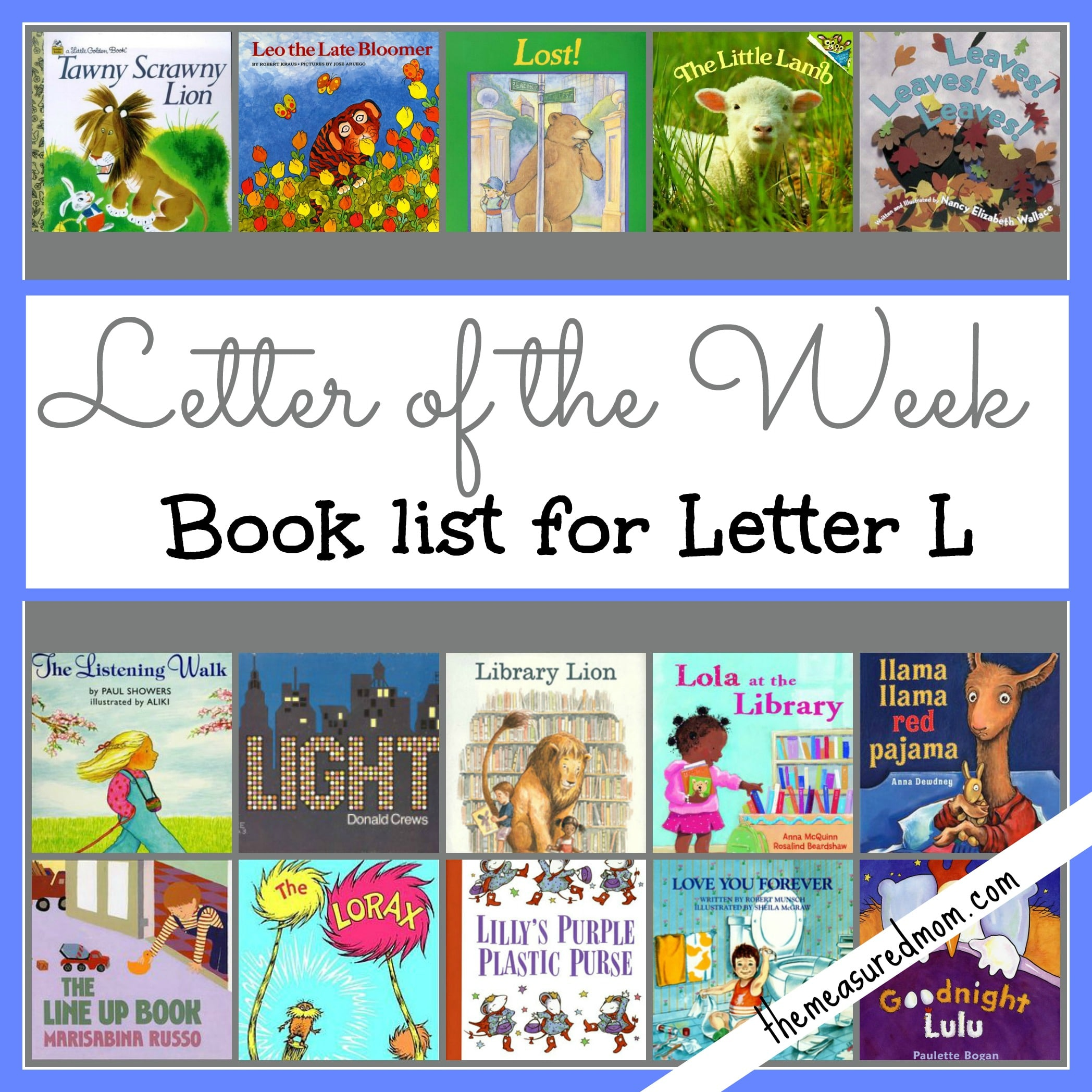 Letter Of The Week Book List