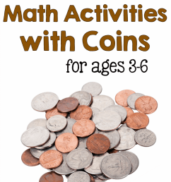 Math activities with coins for ages 3-8 - The Measured Mom [ 1302 x 900 Pixel ]