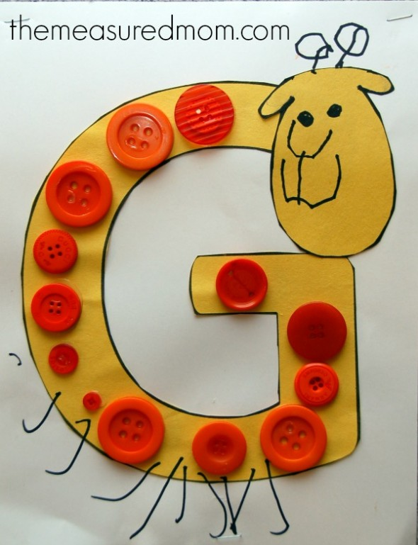 Simple Letter G Crafts For Toddlers And Preschoolers The Measured Mom
