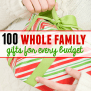 100 Family Gift Ideas With Something For Every Budget