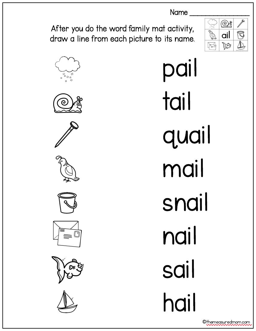 medium resolution of Long Vowel Word Family Mats \u0026 Games - The Measured Mom