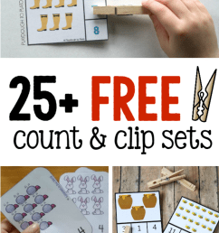 25+ sets of count and clip cards - The Measured Mom [ 1340 x 1254 Pixel ]