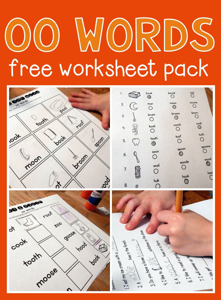 medium resolution of Worksheets for oo words - The Measured Mom