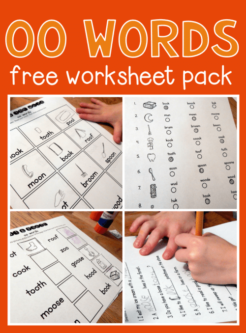 small resolution of Worksheets for oo words - The Measured Mom