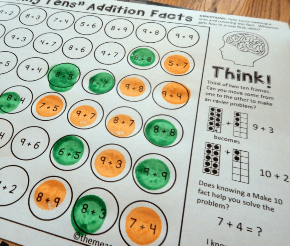 medium resolution of Addition fact strategy games - The Measured Mom