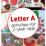 Letter A Activities For 2 Year Olds The Measured Mom