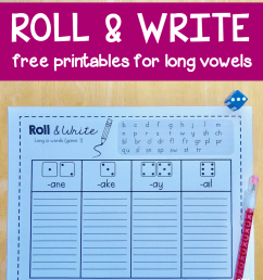 Roll \u0026 write games for long vowel words - The Measured Mom [ 1154 x 900 Pixel ]