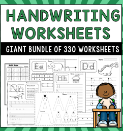 330 Handwriting Worksheets - The Measured Mom [ 900 x 900 Pixel ]