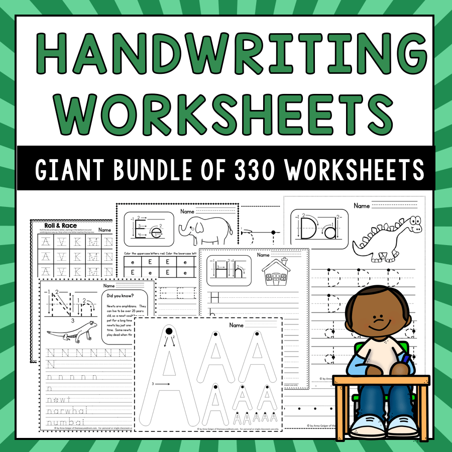 medium resolution of 330 Handwriting Worksheets - The Measured Mom