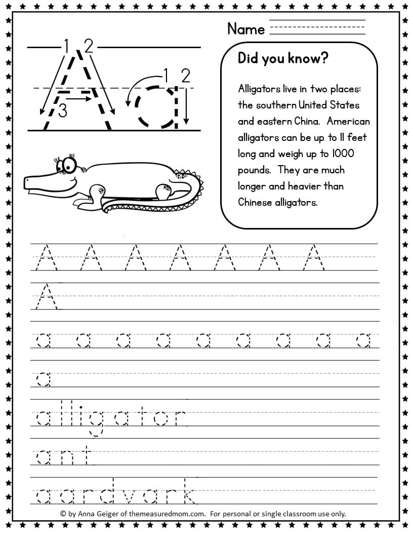 hight resolution of 330 Handwriting Worksheets - The Measured Mom