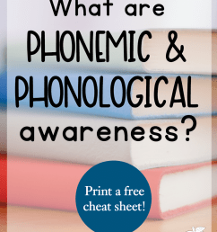 What are phonological and phonemic awareness? - The Measured Mom [ 1200 x 900 Pixel ]