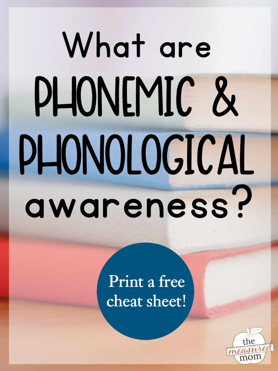 medium resolution of What are phonological and phonemic awareness? - The Measured Mom