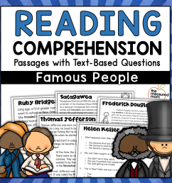 36 Reading Comprehension Passages about Famous People - The Measured Mom [ 900 x 900 Pixel ]