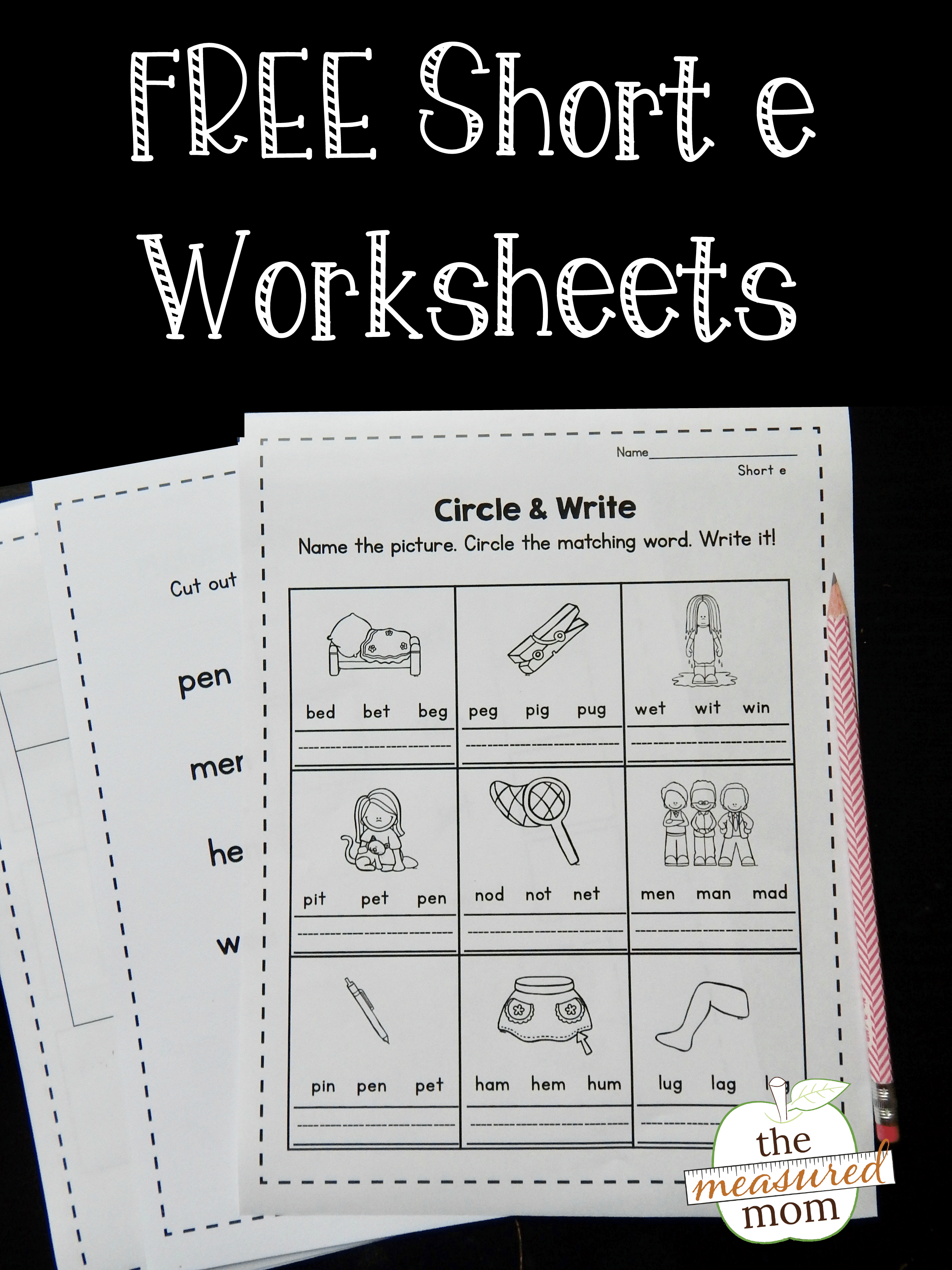 Free Short E Worksheets