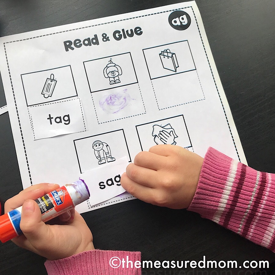hight resolution of Cut \u0026 paste worksheets for short a word families - The Measured Mom