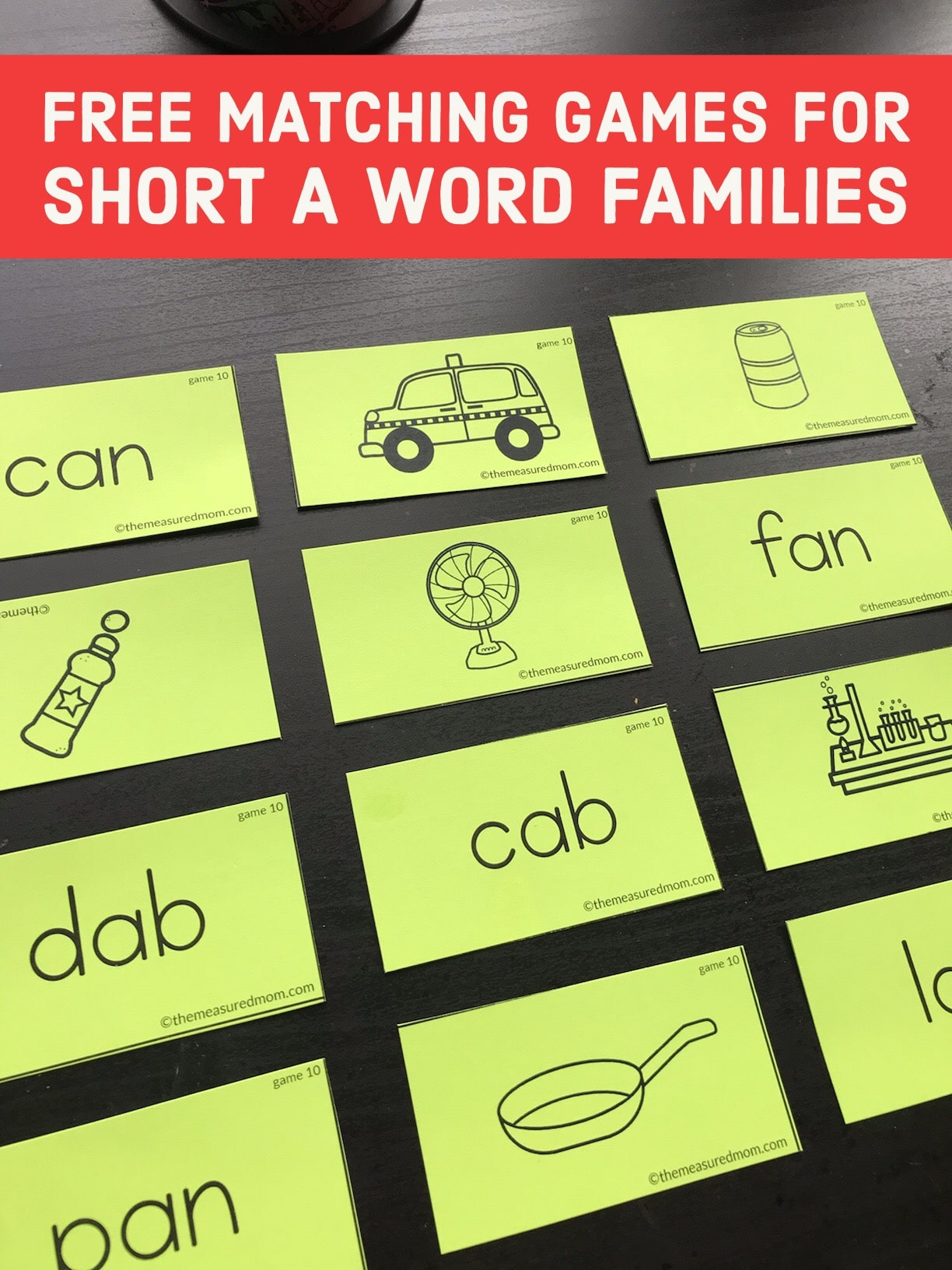 15 Free Memory Games For Short A Word Families