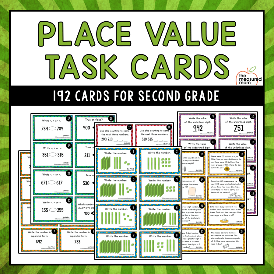 hight resolution of Place value mat - The Measured Mom