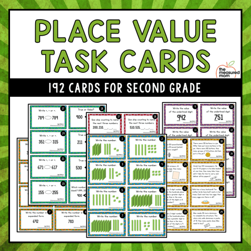 small resolution of Place value mat - The Measured Mom