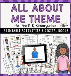New! Our All About Me preschool theme! - The Measured Mom [ 900 x 900 Pixel ]