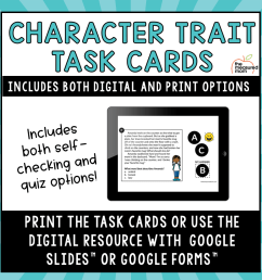 Character Trait Task Cards - Google Slides Activity - The Measured Mom [ 900 x 900 Pixel ]