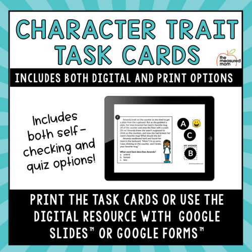small resolution of Character Trait Task Cards - Google Slides Activity - The Measured Mom