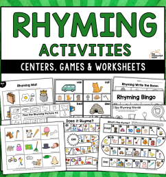Rhyming Activities - The Measured Mom [ 900 x 900 Pixel ]