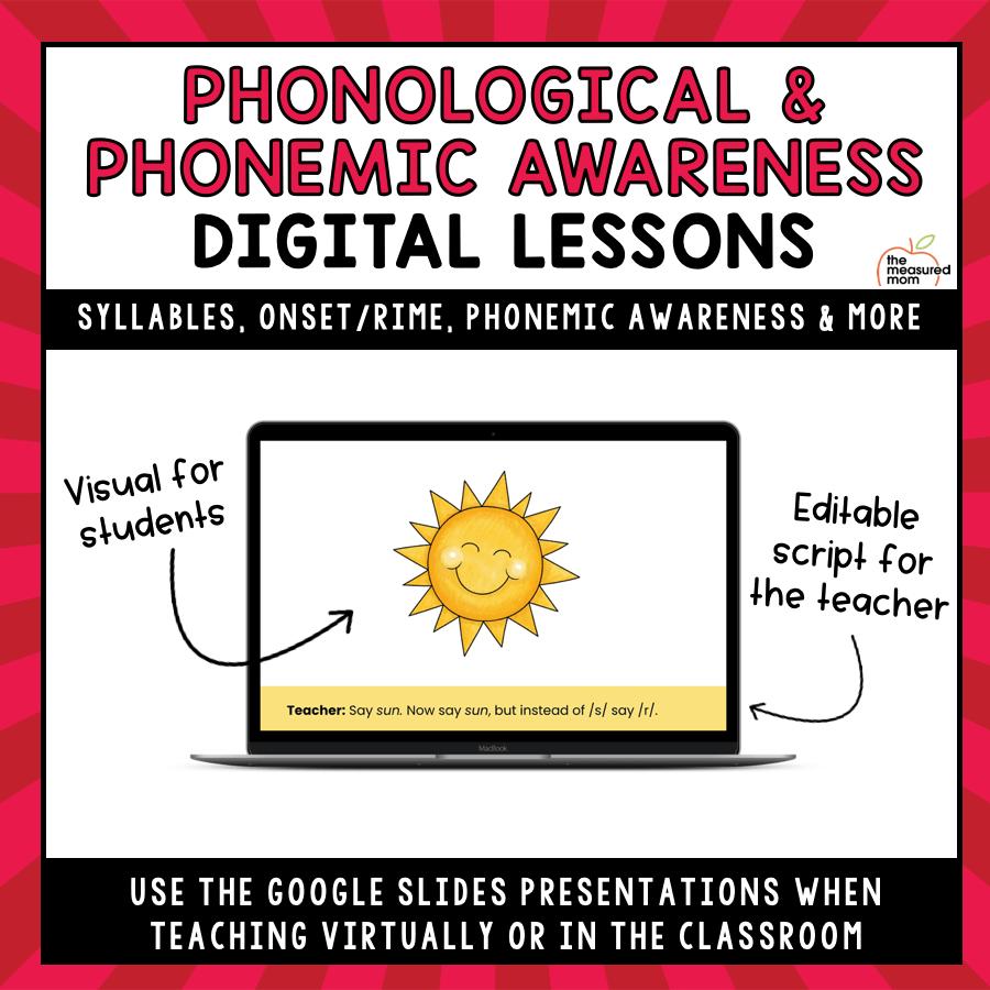 medium resolution of Phonological \u0026 Phonemic Awareness Teaching Slides - The Measured Mom