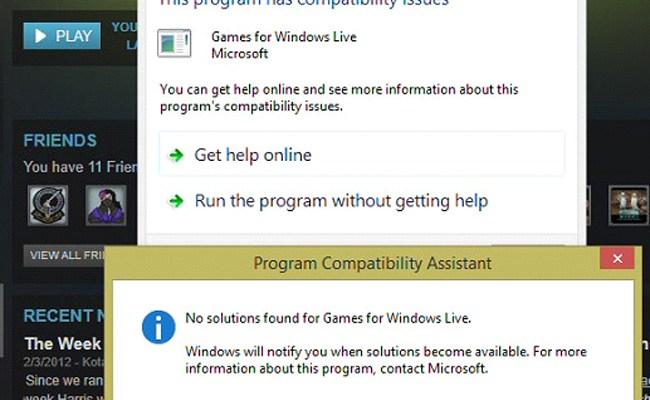 Microsoft Games For Windows Live Marketplace Error