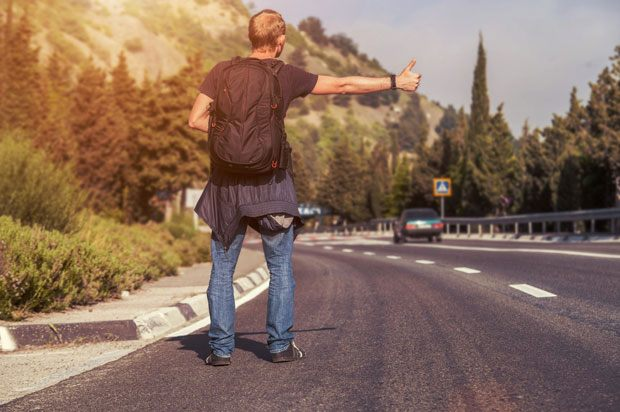 Image result for hitchhiking