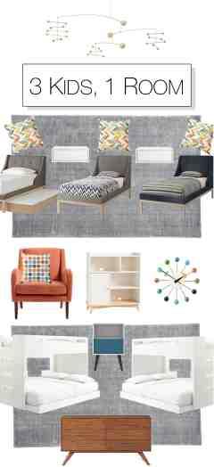 Make It Mid Century Fresh Furnishing A Shared Kids Bedroom The Mom Edit