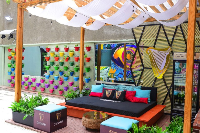outdoor lounge at BBNaija Lockdown House
